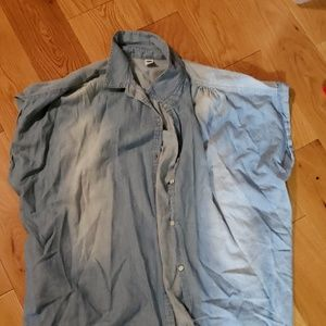 Denim shirt old navy short sleeve. Fall layers fav